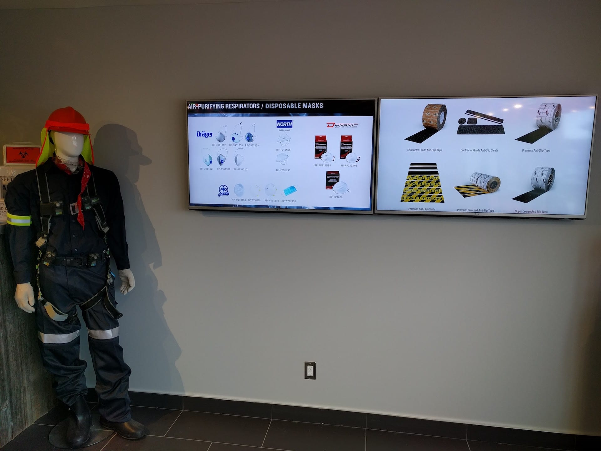 Digital signage for showrooms and manufacturing