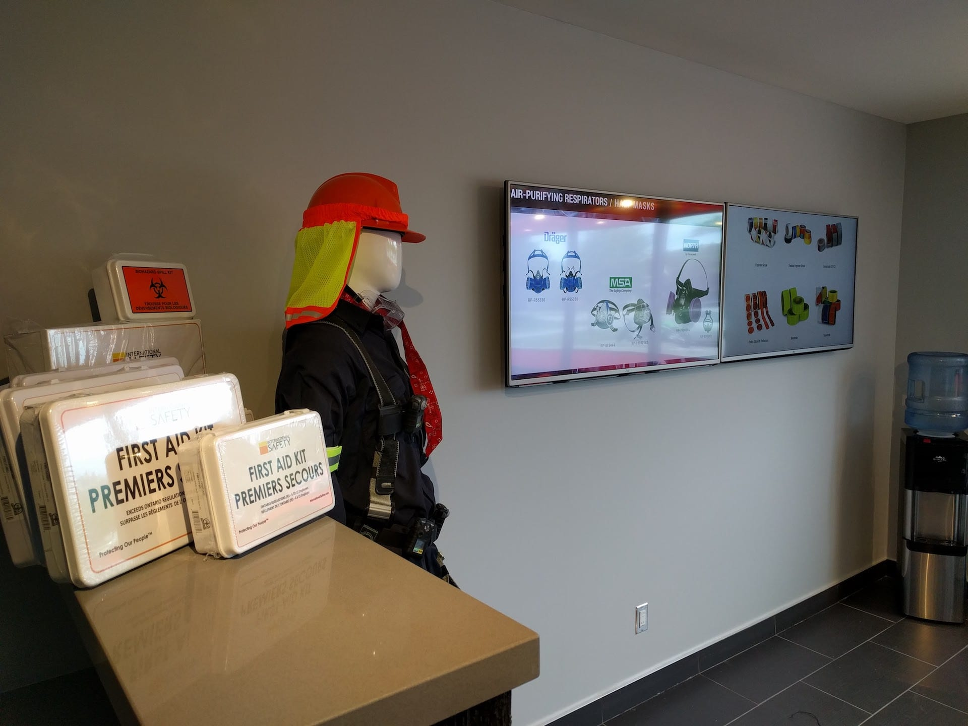 Digital signage for PPE, health and safety equipment sellers