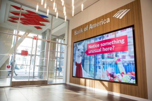 digital signage for banks and financial institutions
