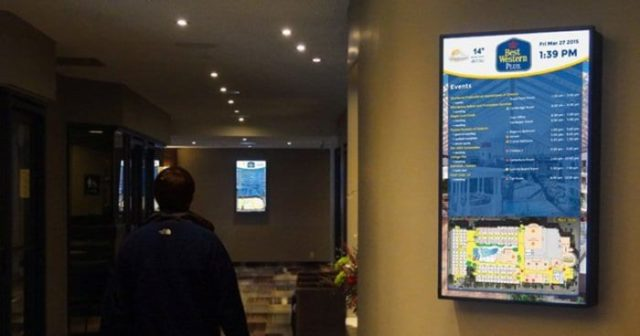 lobby digital signage cloud-based software for companies