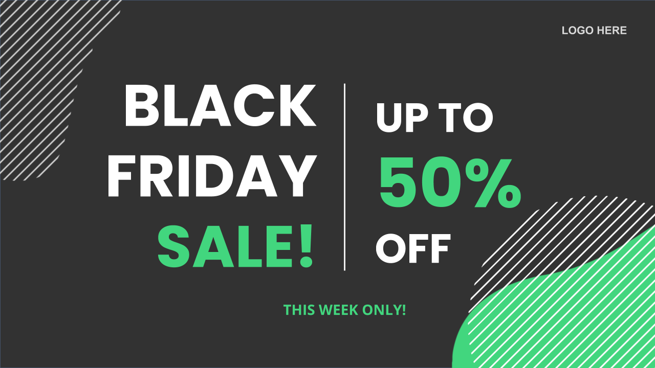 Black Friday Cyber Monday Digital Signage Template