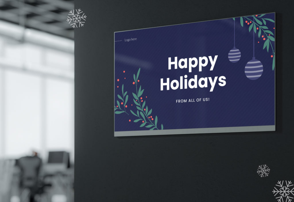 holiday digital signage template