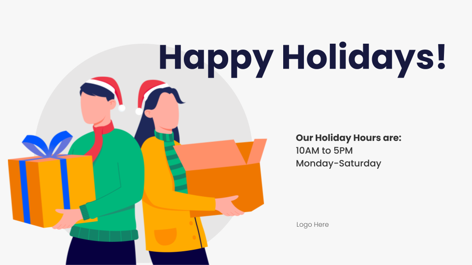 holiday digital signage template photoshop