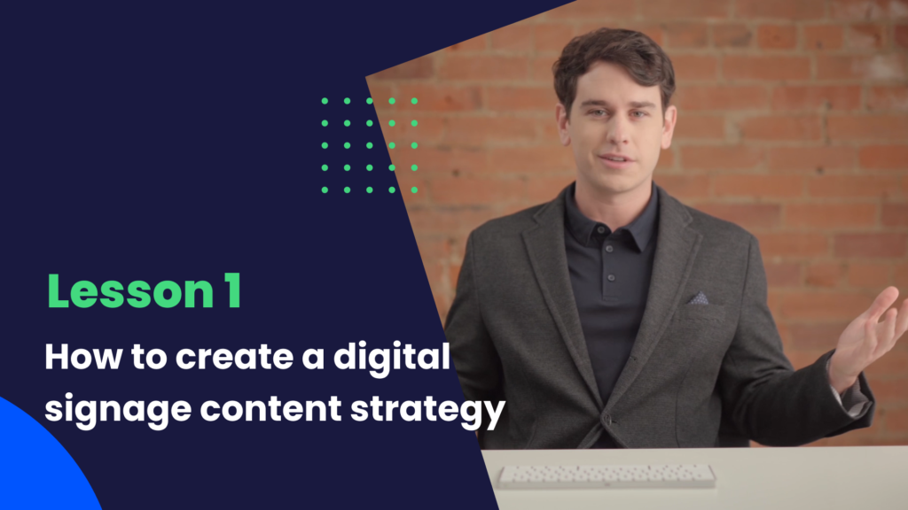 how to create digital signage content strategy