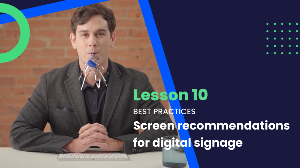 screen recommendations for digital signage